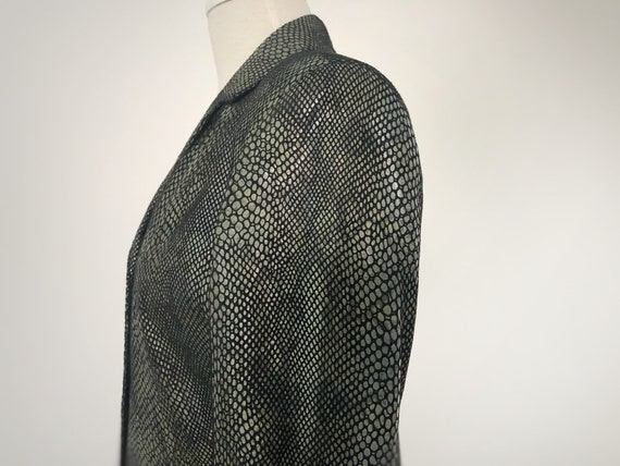 Snakeskin Print Suit, 90s Leather Pants and Jacket - image 4