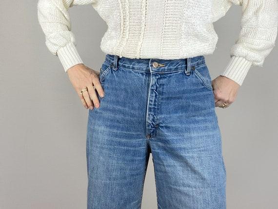 Vintage 70s HIS Blue Jeans, Chic Jeans, Wide Legg… - image 4
