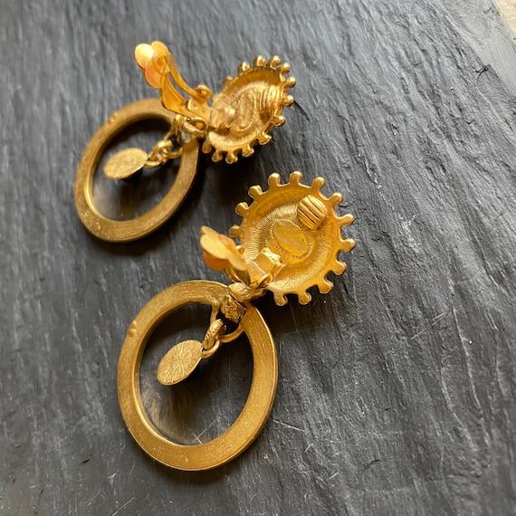 80s Glam Earrings, Large Statement Earrings - image 3