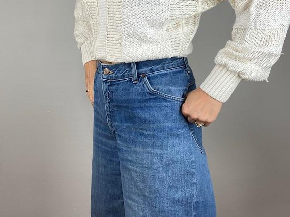 Vintage 70s HIS Blue Jeans, Chic Jeans, Wide Legg… - image 8