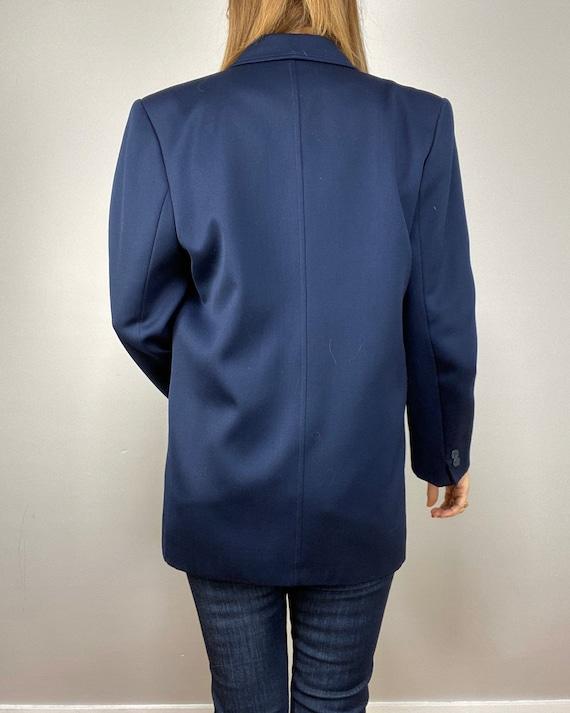 90s Oversized Navy Blazer, Minimalist Wool Blazer… - image 4