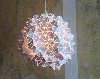 One of a kind- Geodesic Hanging Light Sculpture - Large - 45cm