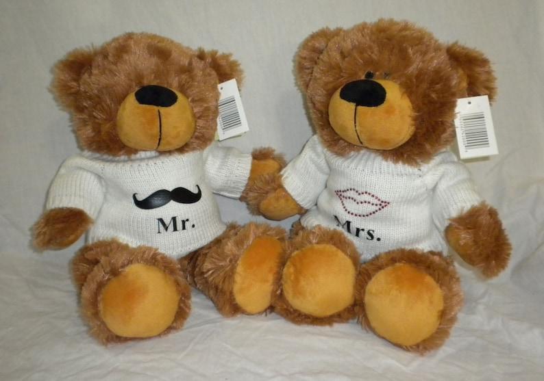 c3c6cdf76e3 Custom Made Mr Mrs Teddy Bears Wedding Gifts for Couples Mr