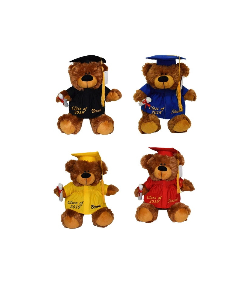 a4e42d581a6 Personalized Custom Graduate Bear 12 Embroidered with