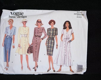 vogue pattern 1121 vogue basic design etsy