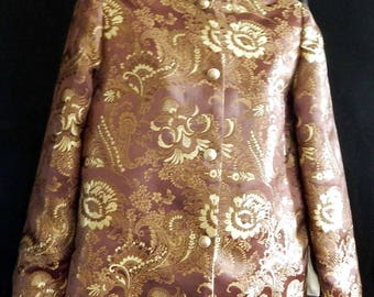Women's Walnut and Gold Brocade Jacket