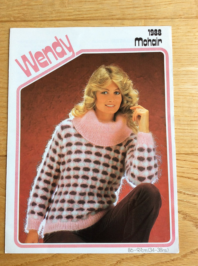 919a29dd37ab Vintage Wendy Knitting Pattern Mohair Lady s Sweater