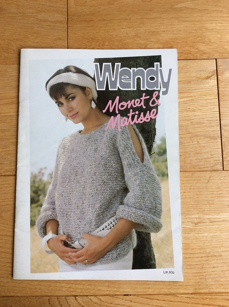 67162b2c6f4c Vintage Wendy Knitting Patterns Booklet Monet and Matisse