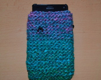 Hand knitted japanese noro wool phone/ipod case
