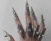 Spiked Finger Armor quot Divine Thorns quot - Full Hand Claw Rings - Dark Nail Jewelry