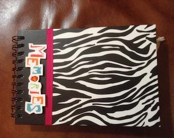 Zoo Themed Handmade Premade Chipboard Scrapbook Album