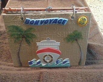 Cruise, Vacation Handmade Premade Chipboard Scrapbook Album