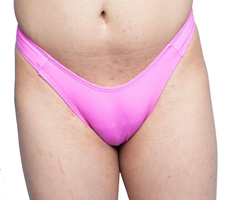 2c858e019725 Gaff Panty For Crossdressing Men. Pink Thong Back.   Etsy