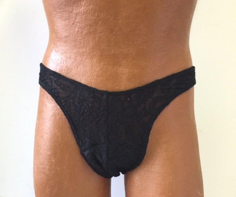 692ec4d72752 Gaff Panty For Crossdressing Men. Black Lace Brazilian Back.   Etsy