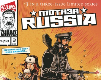 Single Issues: Mother Russia #3 of 3 (Alterna Comics, 2017) newsprint horror comic books; Jeff McComsey