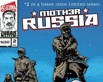 Single Issues: Mother Russia #2 of 3 (Alterna Comics, 2017) newsprint horror comic books; Jeff McComsey