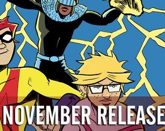 Issue Bundle: November 2017 Alterna Comics - Mr. Crypt #2, Doppelganger #1, Amazing Age #4, Lilith Dark #4 newsprint