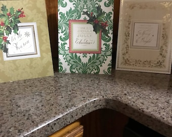 Set of 5 Anna Griffin popup Christmas Cards