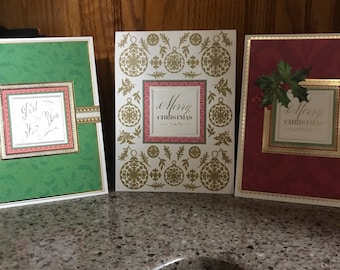 Set of five Anna Griffin Christmas pop up cards