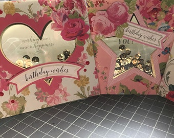 Anna Griffin shaker cards