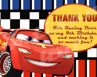 Disney Cars Thank You Card - Printable - Customizable