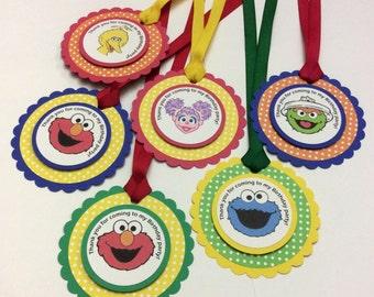 Sesame Street Gift tags - Sesame Street favor tags - Sesame Street tags - Elmo gift tags