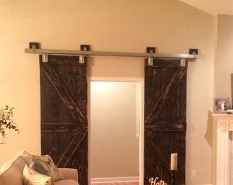 Barn Doors from repurposed Heart of Pine flooring