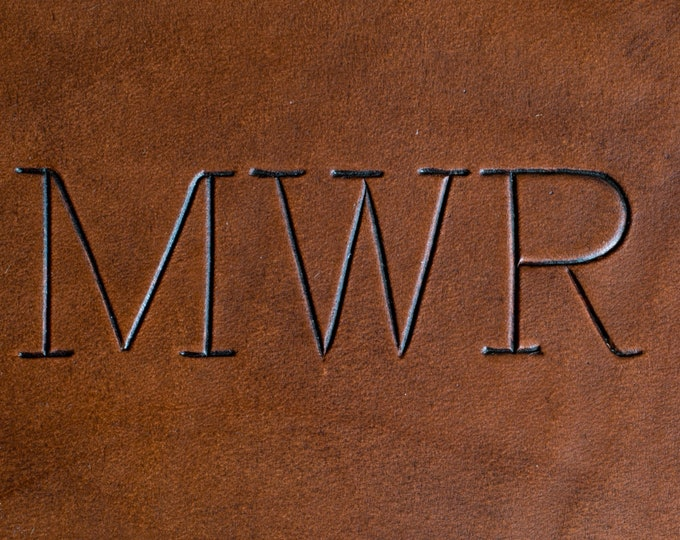 Font #2 - Engraved Print