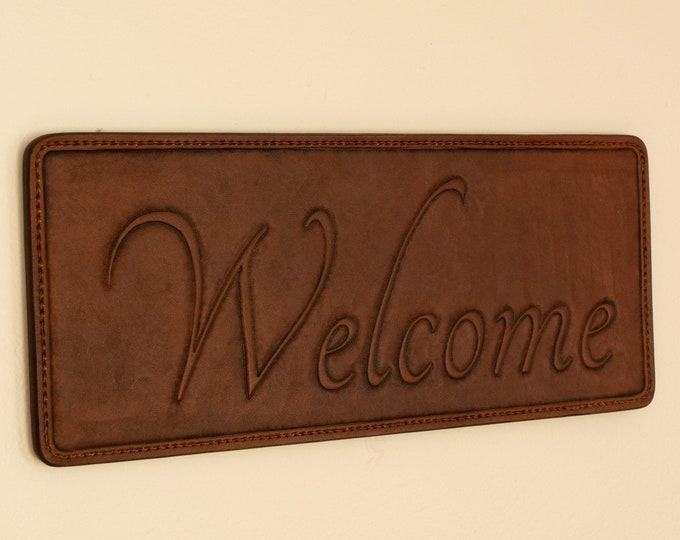 Welcome Greeting Wallhanging Piece - Custom Engraving
