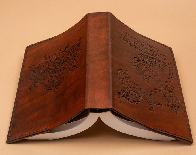 Custom Book Jacked - Hand Engraved Leather