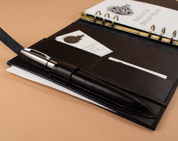Executive Binder A5 - Notetaking and Card Carrier Folio