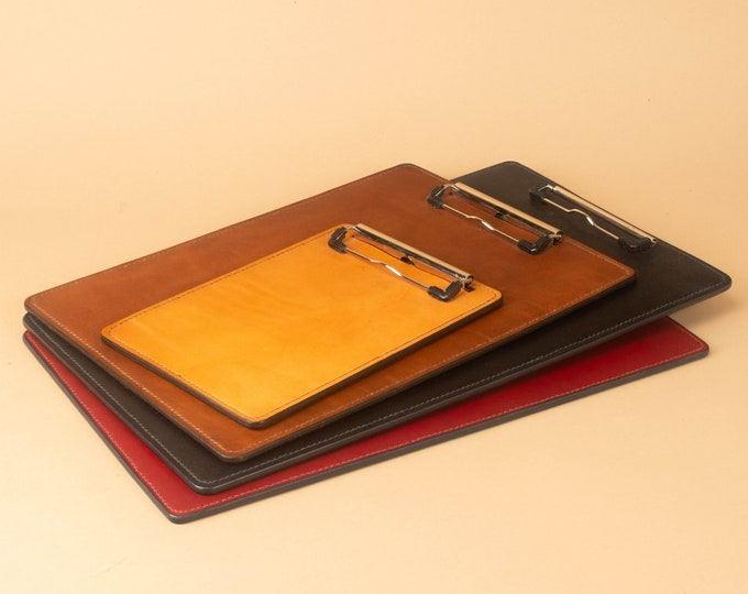 Clipboard, Hand Stitched in Full Grain Leather