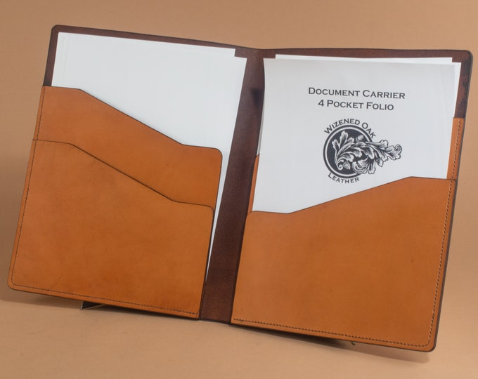 Leather Presentation Folder