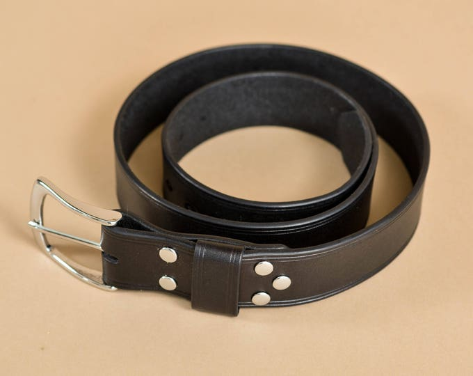 Simple Leather Belt - Minimalist - Full Grain Leather