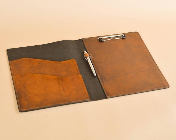 Clipboard Carrier Folio in Full Grain Leather