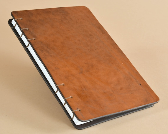 Hand Bound Sketchbook - Coptic Bound Journal - Leather Notebook