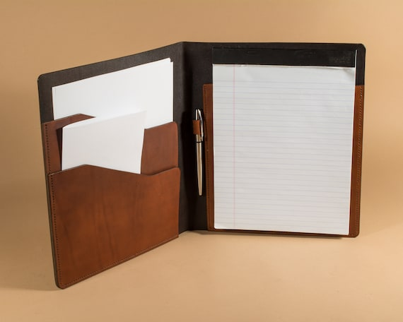 Leather Legal Pad Portfolio - Letter Sized Legal Pad Folder - Legal Pad Folio