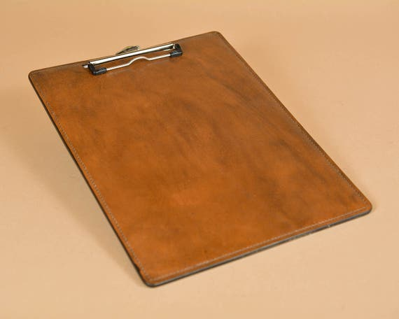 Leather Clipboard - Writing Board - Hand Stitched in Full Grain Leather