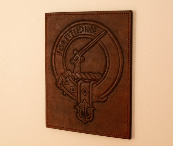Scottish Family Crest Wallhanging Engraving