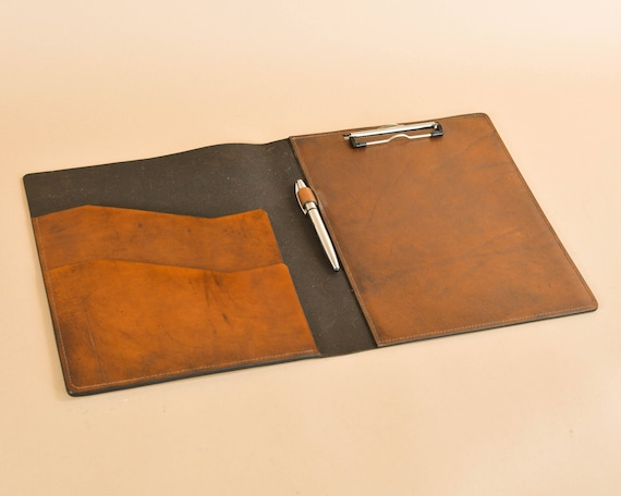 Clipboard Carrier Folio in Full Grain Leather