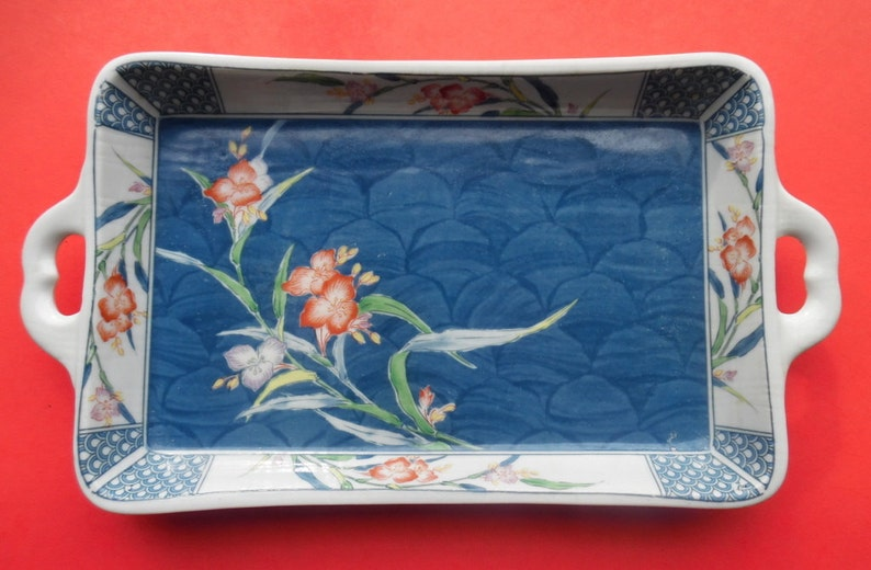 Humorous Vintage Hand Painted Small Porcelain Tray Trinket Vanity Signed Cherry Design Ceramics & Porcelain