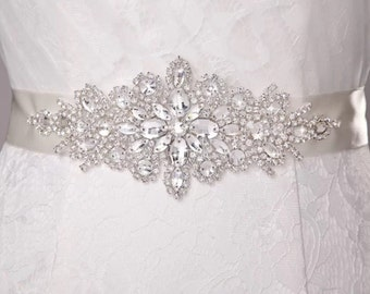 Beautiful wedding dress sash, bridal sash