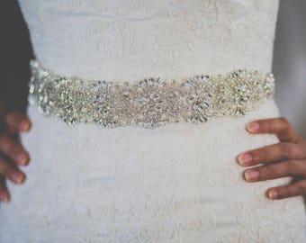 Pearls and crystals sash, bridal sash, bridal belt, dress sash. beaded belt, crystal sash, sash for dress