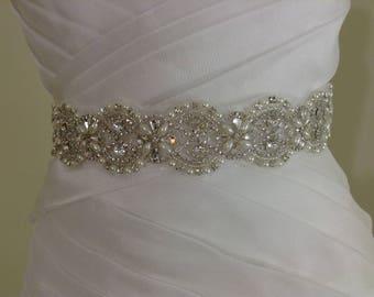 leaf sash, bridal sash, sash for wedding dress, sash high quality. beaded sash,