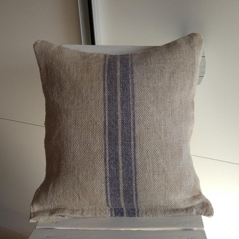 Cushion Covers from vintage hemp grain sack