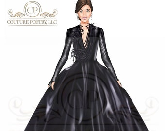 Fine Leather Ball Gown