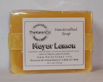 Sweet Meyer Lemon, Cold Process Soap, Vegan Soap