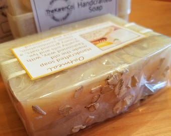 Oatmeal Soap, Unscented, All Natural, Vegan Soap