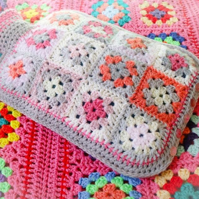 Granny Square Hot Water Bottle Cover Pattern Pdf Diy Hottie Etsy