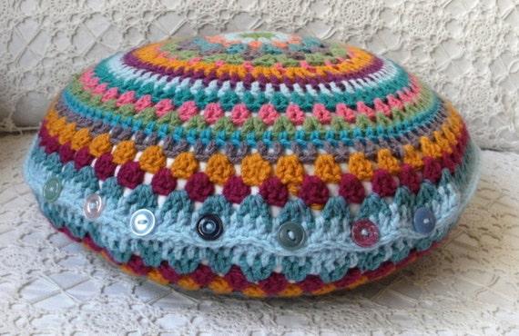 Crochet Cushion Cover PATTERN PDF DIY Round Cushion Cover By Etsy Beauteous Round Pillow Cover Tutorial